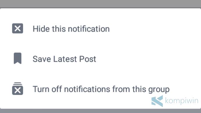 cara matikan pemberitahuan facebook