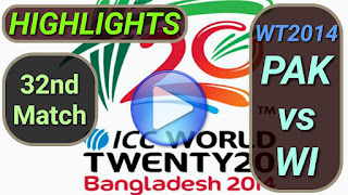 PAK vs WI 32nd Match