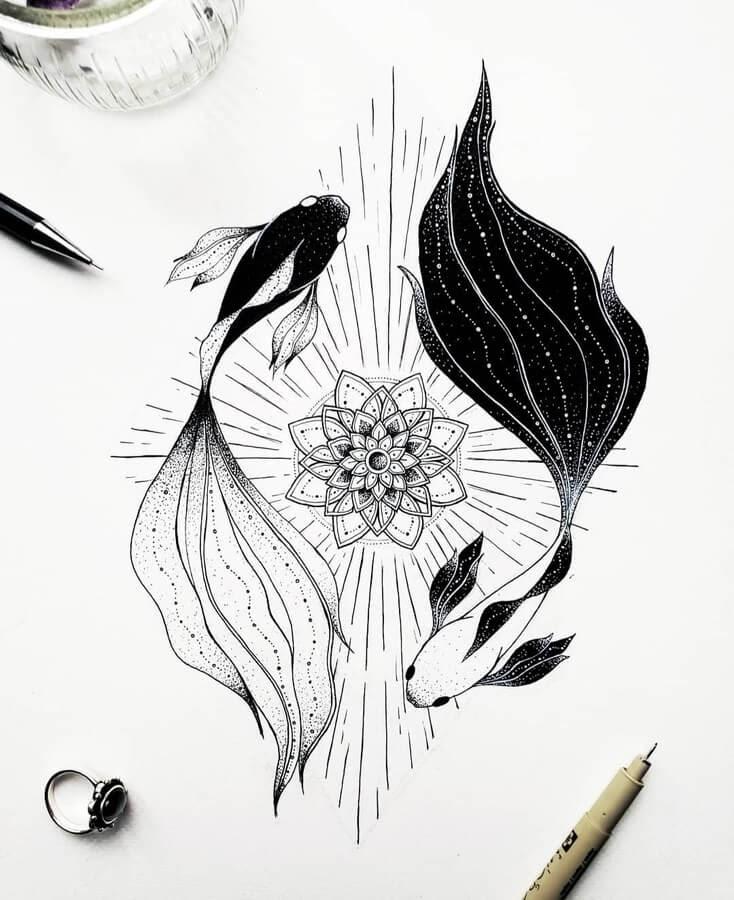 07-Fish-Yin-and-Yang-and-mandala-Marina-Tim-www-designstack-co