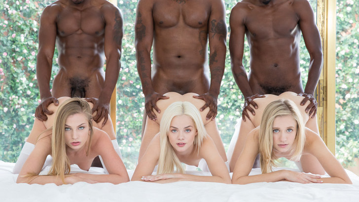 Blacked – Preppy Girl Threesome Get Three BBCs – Elsa Jean, Rachel James, Sydney Cole