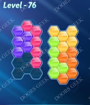 Block! Hexa Puzzle [Intermediate] Level 76 Solution, Cheats, Walkthrough for android, iphone, ipad, ipod