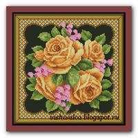 Подушка Желтые розы