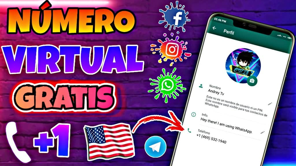 COMO TENER NÚMERO De EE. UU. Gratis Para WhatsApp Y Demás Redes Sociales 2021