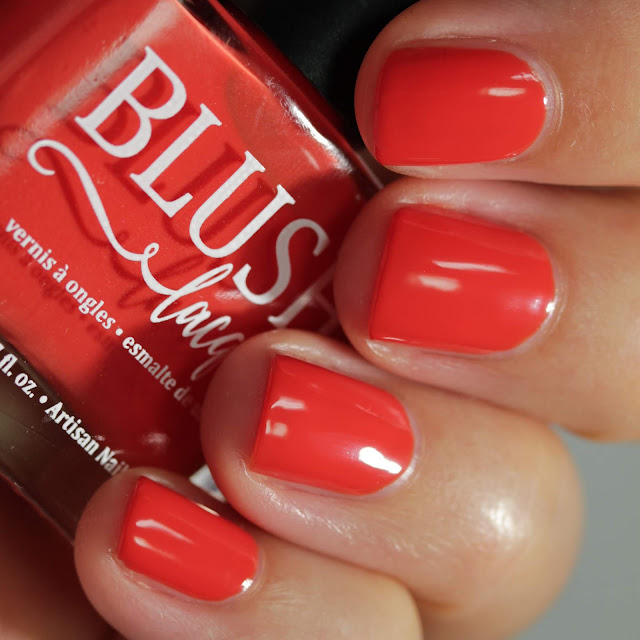 BLUSH Lacquers Pickin' Poppies swatch by Streets Ahead Style