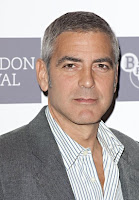 George Clooney looking good in gray hair