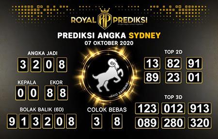 Royal Prediksi Sidney Rabu 07 Oktober 2020