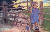 Image by J. Smith 1918. Meaning: To 'play bo peep' referred to the punishment of being locked in a pillory.