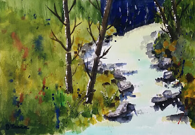 Country Stream - Watercolor - JKeese