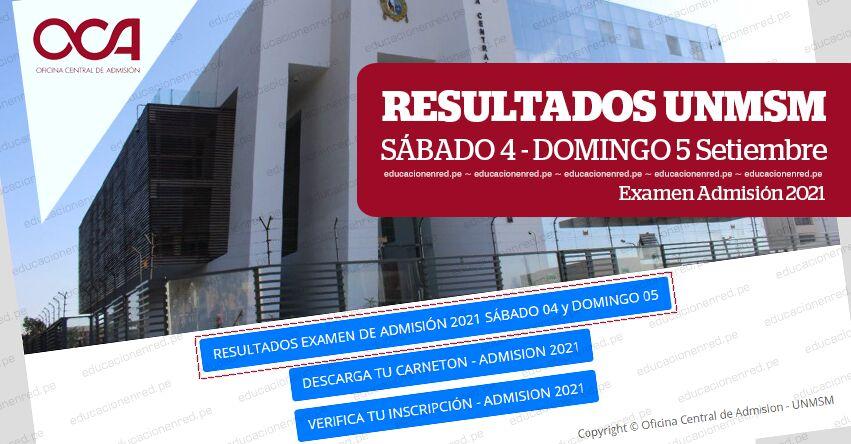 UNMSM: Universidad de San Marcos publicó resultados del Examen de Admisión 2021. Revisa la lista de ingresantes hoy Domingo 5 Septiembre