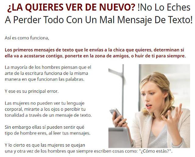Atracción Textual PDF - Mensajes De Texto Para Seducir A Una Mujer - El e-book Atracción Textual & El VIDEO - Secretos de Atracción Textual