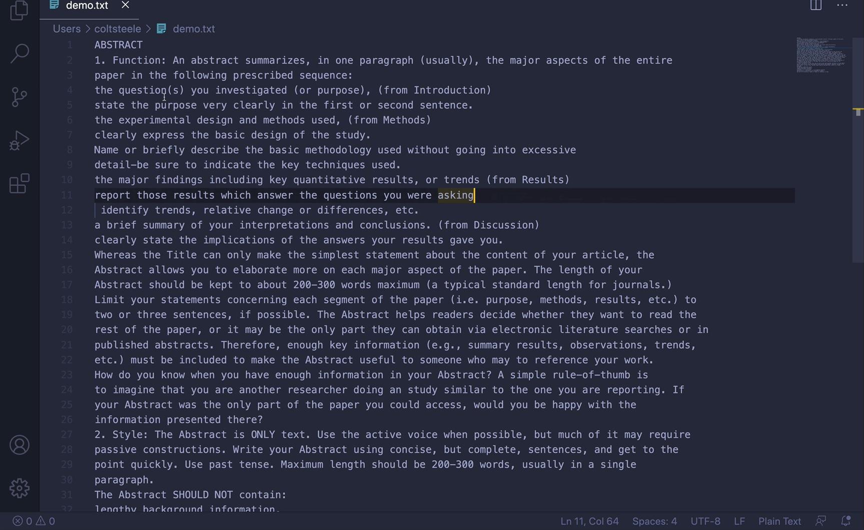 teks tanpa struktur html