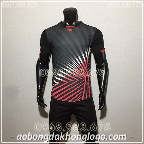 Áo bóng đá ko logo CP TC màu đen