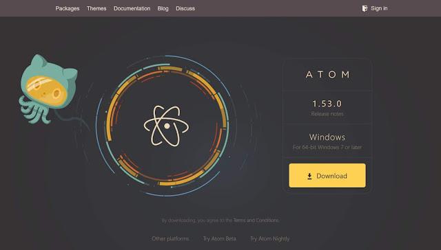 Atom Kode Editor Untuk Mac