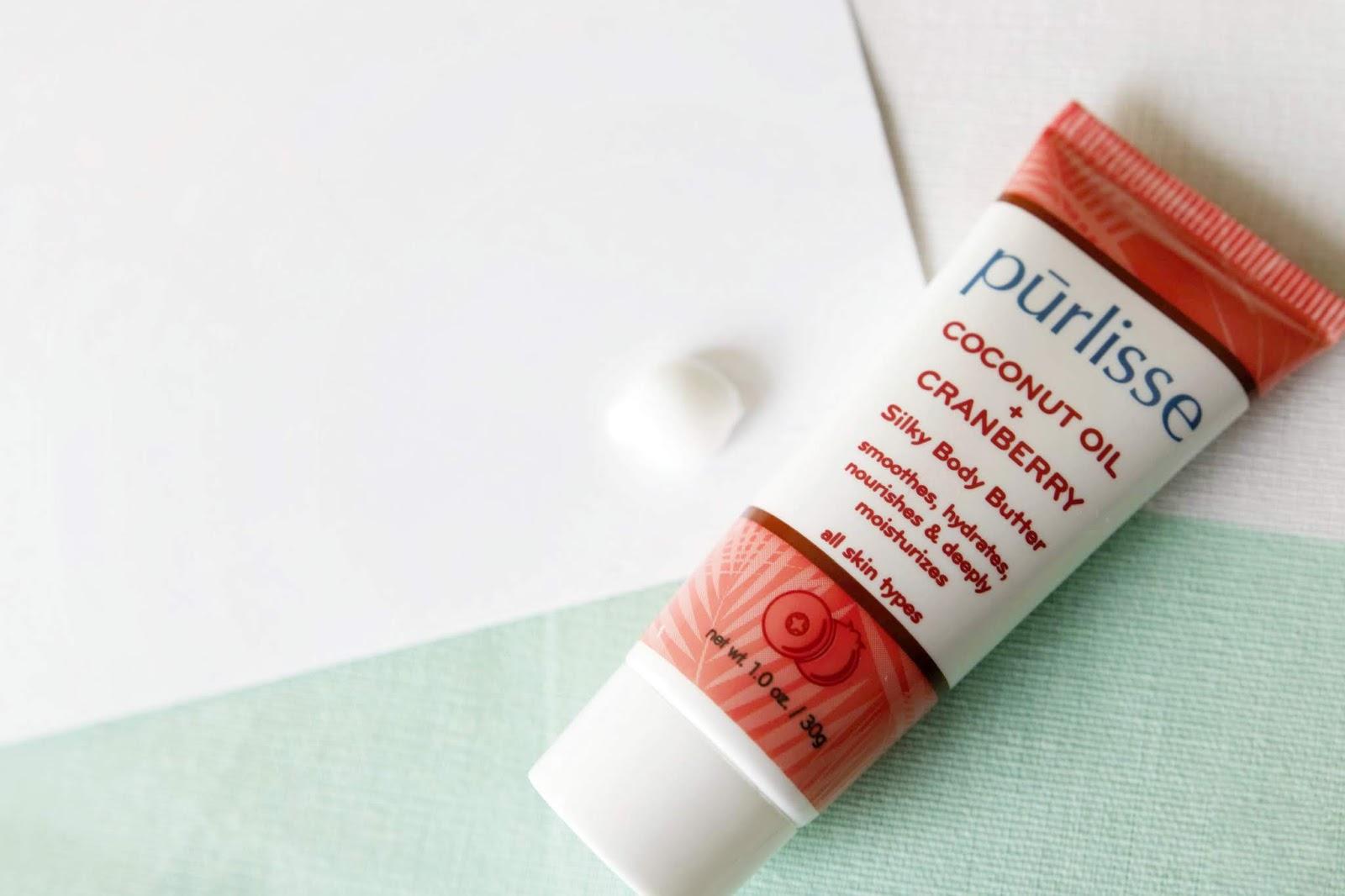 purlisse body butter coconut oil cranberry skincare makeup beauty guru