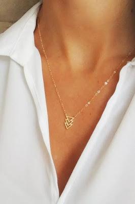 collier dore cadeau femme