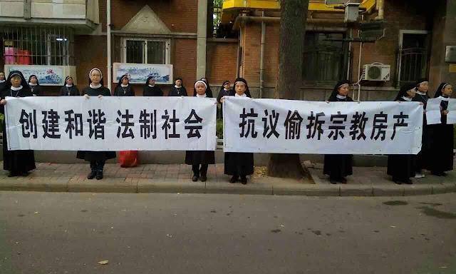 Religiosas corajosas pedem devolução dos bens da Igreja em Anyang