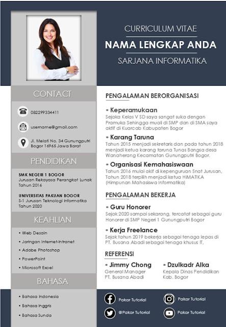Template CV yang Bagus