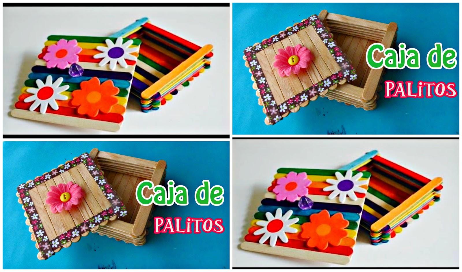 Reciclando con erika caja hecha con paletas de madera - Manualidades con caja de madera ...