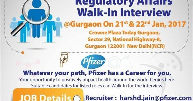 PHARMA WISDOM: Pfizer - Walk-In Interview for Chennai / Vizag