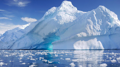 A Ice Mountain In Antarctica