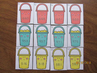 FREEBIE Beach Buckets Ordering Numbers in the Hundreds