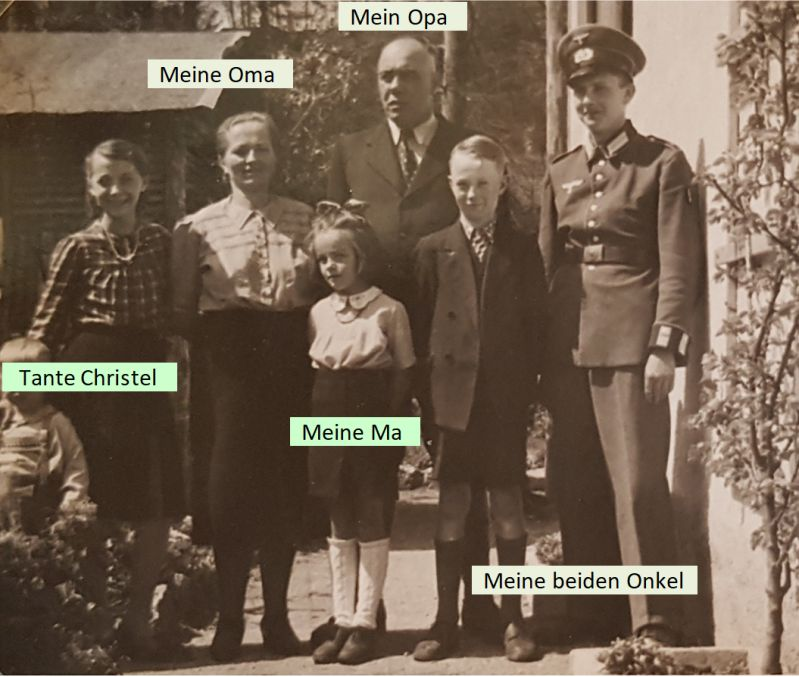 Meine Mutter mit meiner Lieblingstante Christel und ihrer Familie