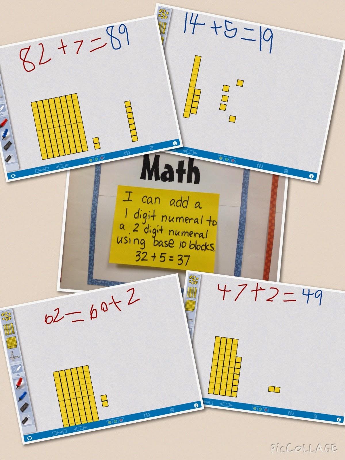 Mrs T S First Grade Class Math Collage