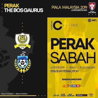 Live Streaming Perak vs Sabah 4.8.2019 (Piala Malaysia)