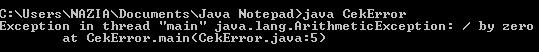 Runtime error pada pemrograman Java