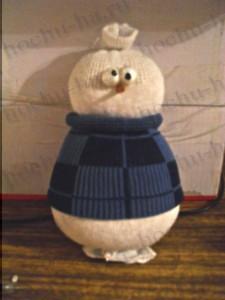 снеговик, снеговик из носка, игрушки, игрушки из носков, из носков, снеговик своими руками, своими руками, игрушки мягкие, снеговик игрушка, трикотаж, носки, из трикотажа, Новый год, Рождество, декор новогодний, декор рождественский,