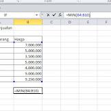 Cara Mencari Nilai Terendah di Excel