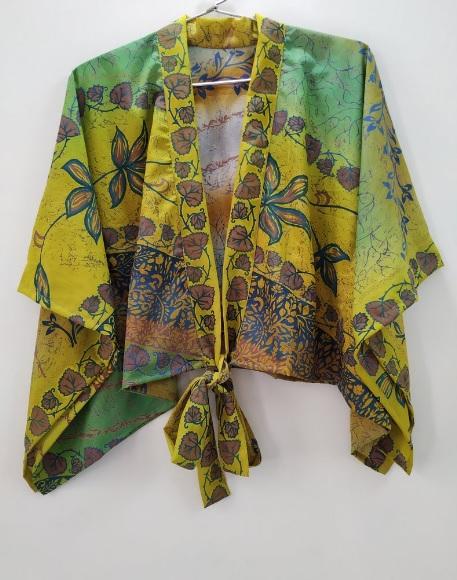 Crop Wrap Kimono Top
