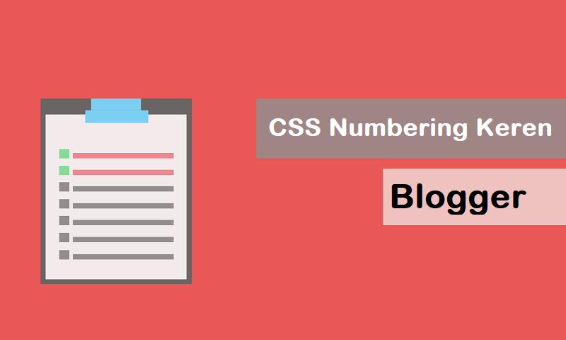 Membuat Desain Numbering Keren di Blogger