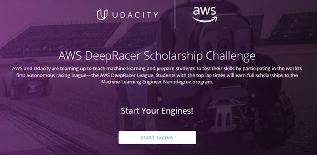 منح دراسية  كاملة المصاريف لازيد من 200 طالب الذين يرغبون في تعزيز مهاراتهم في التعلم الآلي مقدمة من طرف  AWS و Udacity