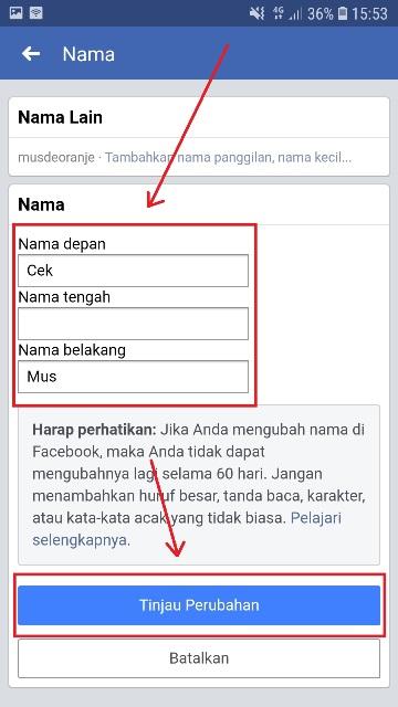 Cara Mengganti Nama Facebook Dari HP - musdeoranje.net