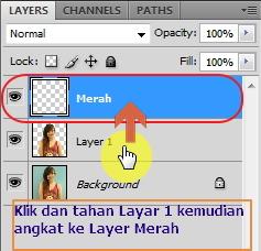 Layer 1 ke Layer Merah