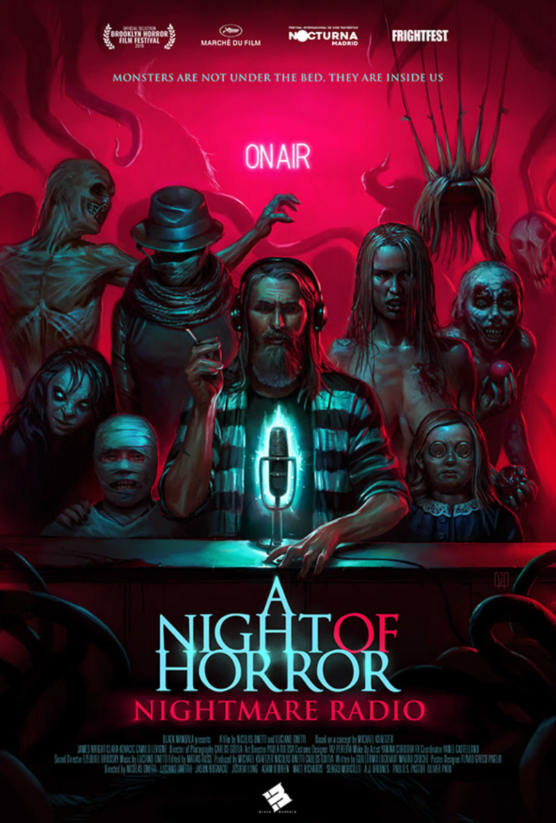 a night of horror nightmare radio poster