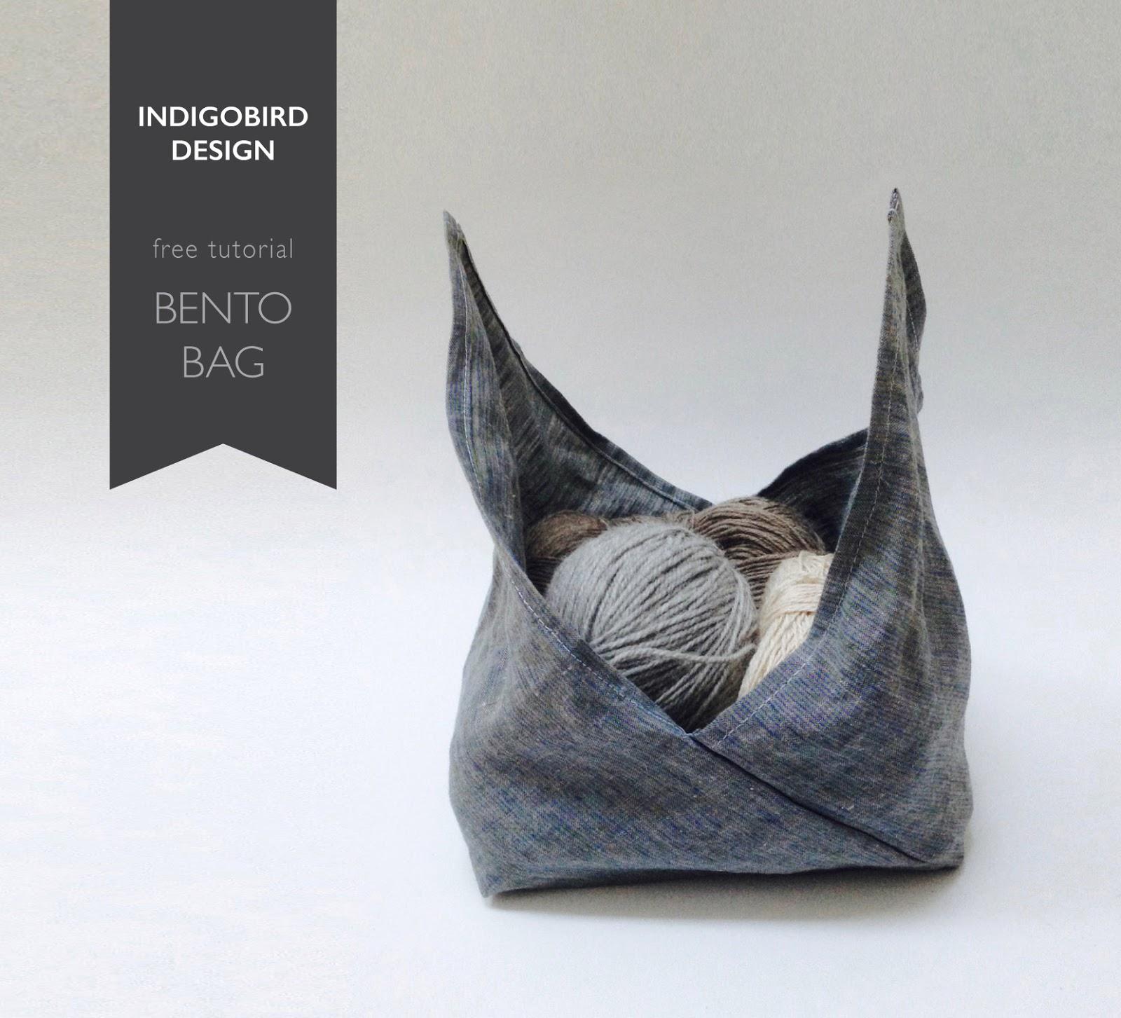 indigobird design: TUTORIAL: Knitting Bento Bag (Azuma ...