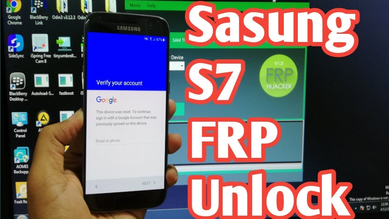 Samsung S7 SM-G930F FRP Bypass U2 Android 8 New Method 2018
