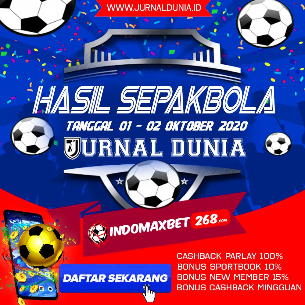 Hasil Pertandingan Sepakbola Tanggal 01 - 02 Oktober 2020