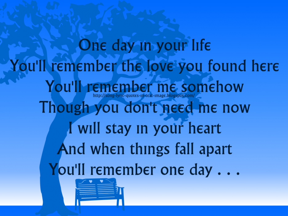 A moment in your life in