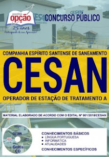 apostila-cesan-2018-cargo-operador-de-estacao-de-tratamento