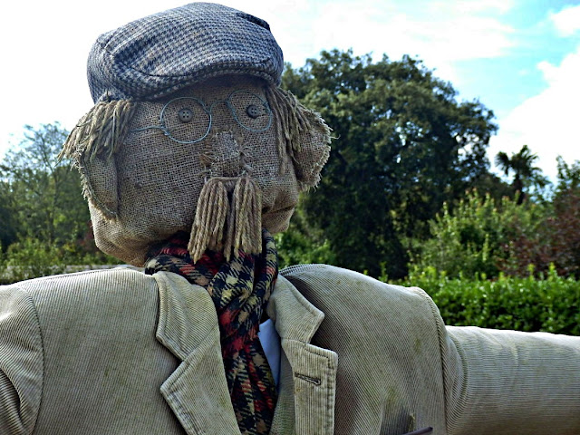 Scarecrow at Lots Gardens of Heligan, Cornwall