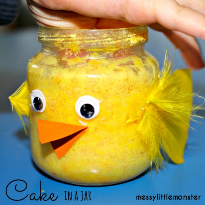 Easter chick cake - Easter activities for toddlers and preschoolers