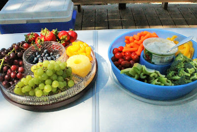 Rainbow Birthday Party Food - Rainbow Fruit Tray and Rainbow Veggie Tray
