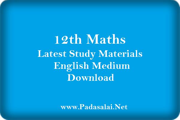 12th Maths Latest Study Materials English Medium Download Padasalai No 1 Educational Website