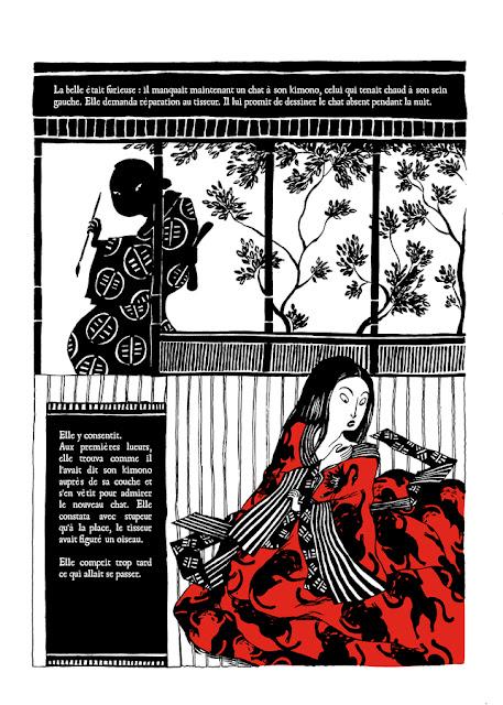 """page de """"LE CHAT DU KIMONO T1"""" de Nancy Pena chez La Boîte à Bulles"""