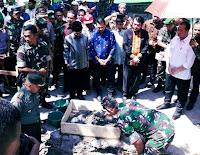 Ketua MK Letakkan Batu Pertama Pembangunan Kantor Koramil Kota 1608-01 Bima