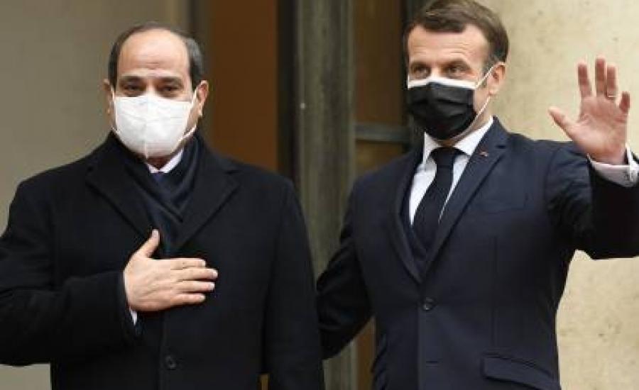 مصر  و فرنسا  توافق على التهدئة في غزة .. والسيسي: في أسرع وقت!