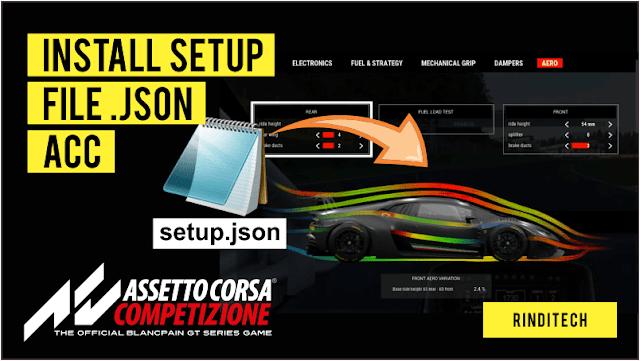 Cara Pasang File Setup JSON di Game Assetto Corsa Competizione